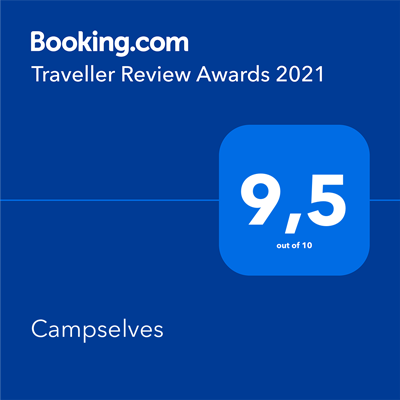 Campselves Booking traveller review award 2021